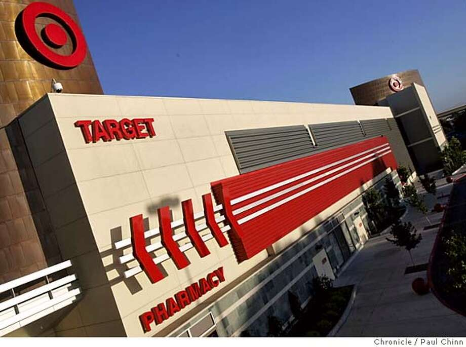 target14_006_pc.jpg  The Target store at Oakridge Mall on 8/10/05 in San Jose, Calif. has designed the exterior with colorful metal panels and arrows to make it energetic up close and visible from afar.  PAUL CHINN/The Chronicle MANDATORY CREDIT FOR PHOTOG AND S.F. CHRONICLE/ - MAGS OUT Photo: PAUL CHINN