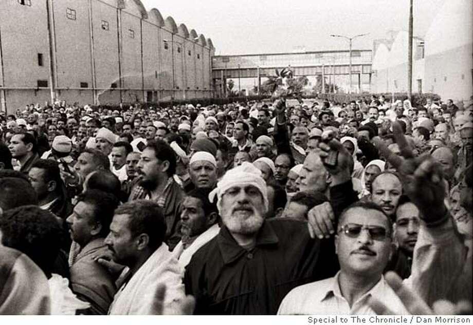 EG-TEXTILE-STRIKE-062: Striking textile workers in Kafr el-Dawwar, Egypt. Photographed Feb. 7, 2007. Dan Morrison/Special to The Chronicle NO MAGS, NO SALES, NO TV Photo: Dan Morrison