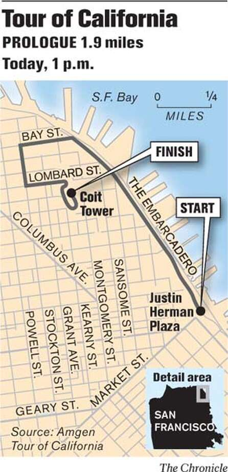 Tour of California: Prologue. Chronicle Graphic