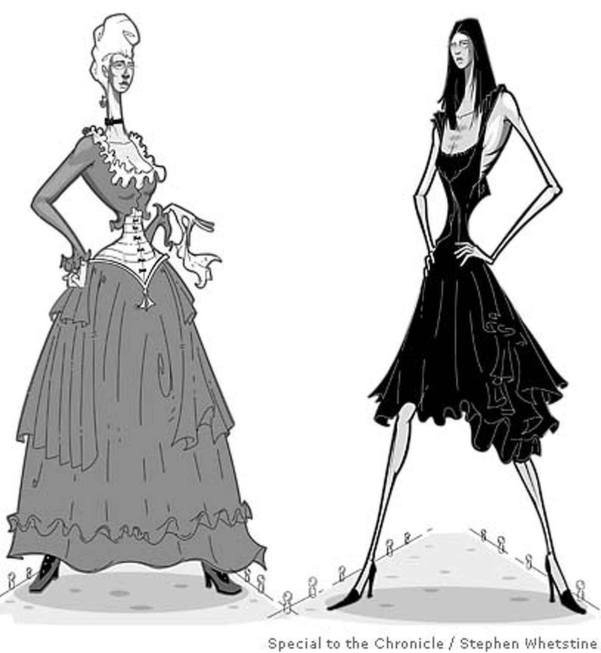 A Century of Killer Fashion. Illustration by Stephen Whetstine, special to the Chronicle