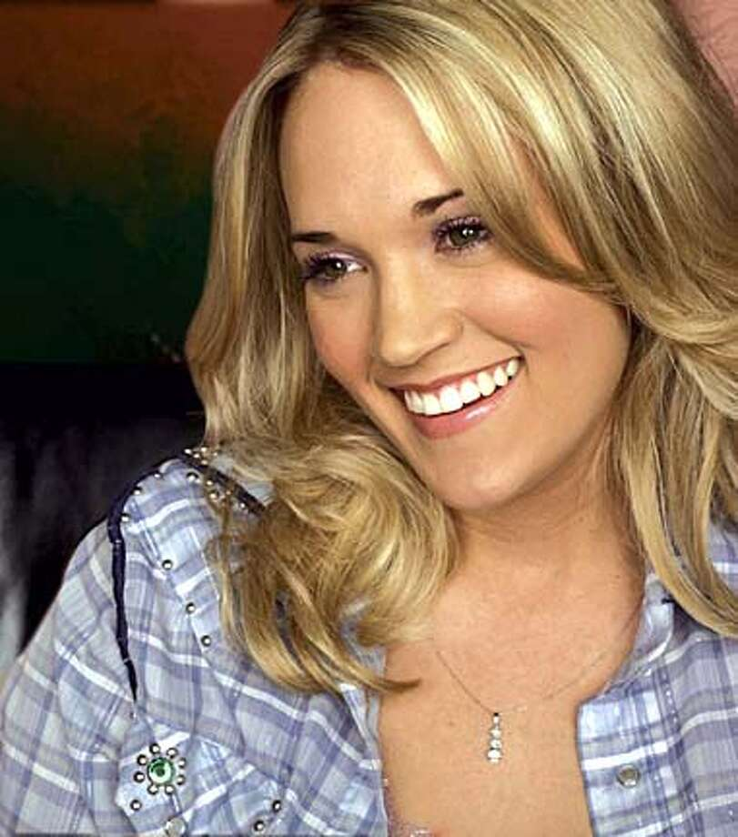 "Carrie Underwood won the ""American Idol"" competition in May."