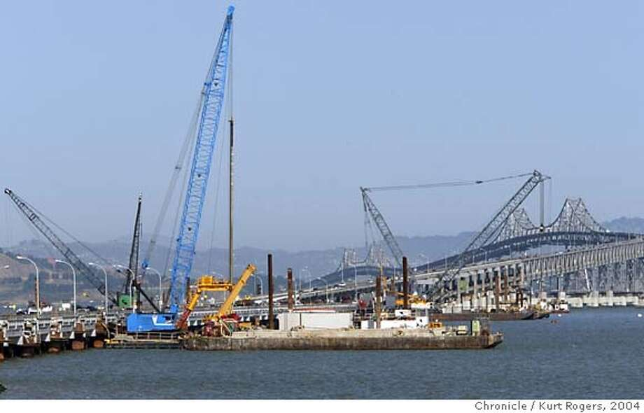 Construction on the Richmond Bridge looking at it from west to east. 4/30/04 in San Rafael,CA.  Kurt Rogers/The Chronicle Photo: Kurt Rogers
