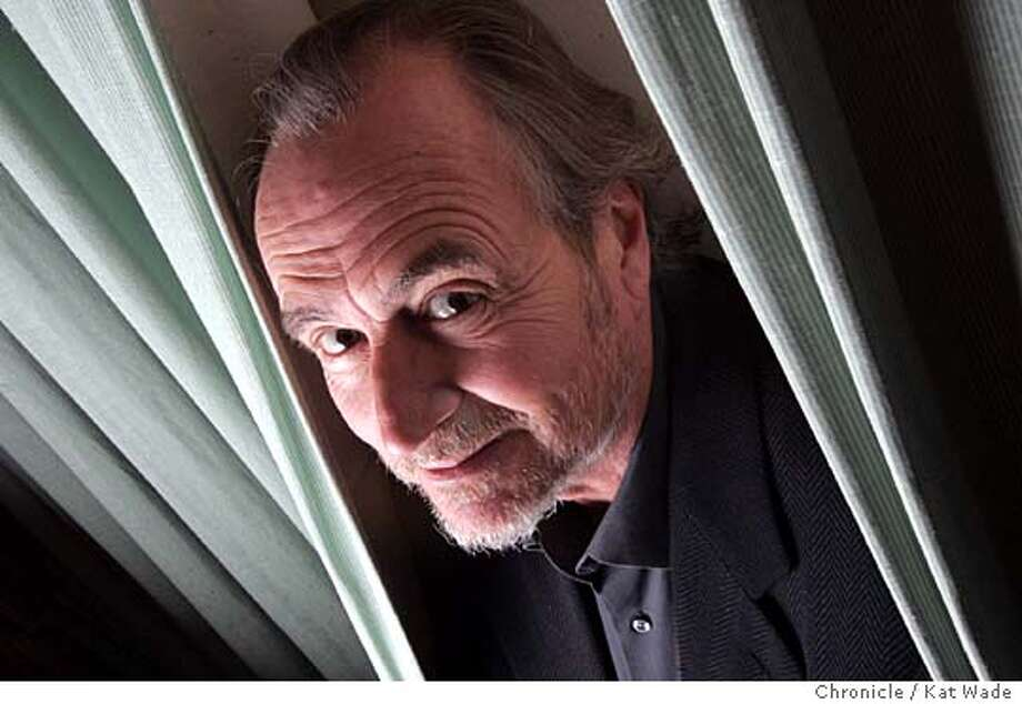 "CRAVEN14_029_KW.jpg  On 8/8/05 in San Francisco Director Wes Craven poses for a portrait while in San Francisco promoting his new film ""Red Eye,"" a film that moves away from the horror film genre Craven is known for and toward the Hitchcock type suspense/thriller.  Kat Wade/ The Chronicle MANDATORY CREDIT FOR PHOTOG AND SF CHRONICLE/ -MAGS OUT Photo: Kat Wade"