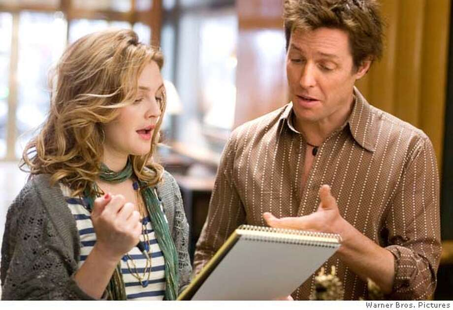 �DREW BARRYMORE stars as Sophie Fisher and HUGH GRANT stars as Alex Fletcher in Warner Bros. Pictures� and Village Roadshow Pictures� romantic comedy �Music and Lyrics,� distributed by Warner Bros. Pictures. PHOTOGRAPHS TO BE USED SOLELY FOR ADVERTISING, PROMOTION, PUBLICITY OR REVIEWS OF THIS SPECIFIC MOTION PICTURE AND TO REMAIN THE PROPERTY OF THE STUDIO. NOT FOR SALE OR REDISTRIBUTION.