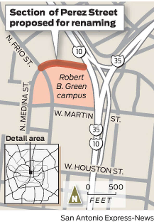 Section of Perez Street proposed for renaming. Photo: Mike Fisher