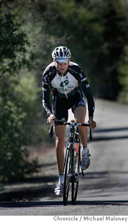 Ryder Hesjedal of the Health Net Pro Cycling Team climbs Chalk Hill Road near Santa Rosa, CA on a training ride February 14, 2007.  The Health Net Pro Cycling Team, lead by former Pro Tour rider Ryder Hesjedal (Phonak) will compete in the Amgen Tour of California Bike race starting Sunday, February 18 in San Francisco, CA.  Photo by Michael Maloney / San Francisco Chronicle ***Ryder Hesjedal MANDATORY CREDIT FOR PHOTOG AND SF CHRONICLE/NO SALES-MAGS OUT Photo: Michael Maloney