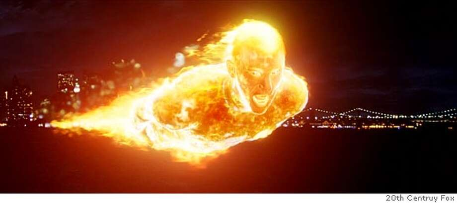 """Fantastic Four"" is the name of the movie--shown is Human Torch. Photo credit: 20th Centruy Fox."