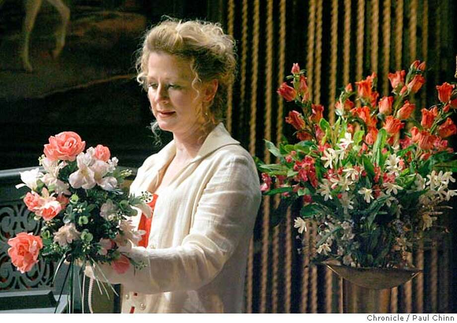 "Rene Augesen, in the title role, rehearses a scene for ACT's production of ""Hedda Gabler"" in San Francisco, Calif. on Friday, February 9, 2007.  PAUL CHINN/The Chronicle  **Rene Augesen MANDATORY CREDIT FOR PHOTOGRAPHER AND S.F. CHRONICLE/NO SALES - MAGS OUT Photo: PAUL CHINN"