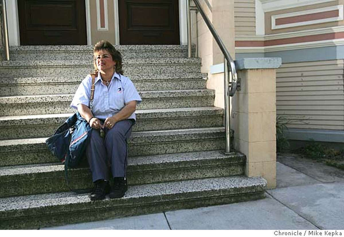 wil073_mk.JPG Mail carrier, Janet Recabarren knew something was wrong when she hadn't seen 80-year-old Wilson Franklin's truck move in days. Franklin was a regular on her hilly Noe Valley route, 7/27/05 Mike Kepka / The Chronicle MANDATORY CREDIT FOR PHOTOG AND SF CHRONICLE/ -MAGS OUT