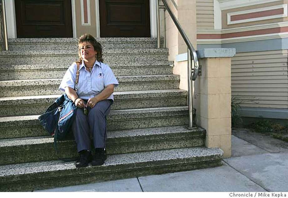 wil073_mk.JPG Mail carrier, Janet Recabarren knew something was wrong when she hadn't seen 80-year-old Wilson Franklin's truck move in days. Franklin was a regular on her hilly Noe Valley route, 7/27/05 Mike Kepka / The Chronicle MANDATORY CREDIT FOR PHOTOG AND SF CHRONICLE/ -MAGS OUT Photo: Mike Kepka