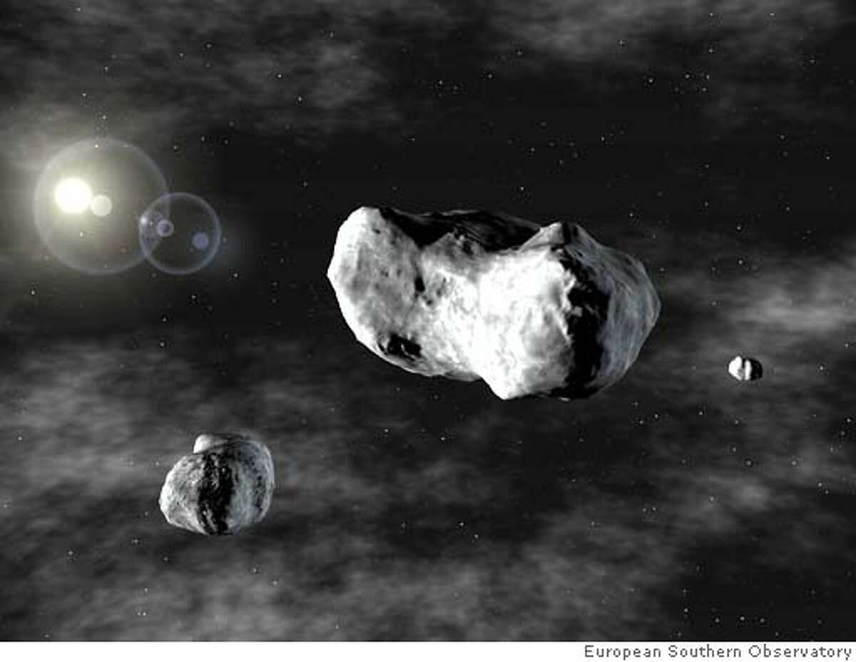 Asteroids triple - This is the image to go with Asteroids11. Credit: European Southern Observatory