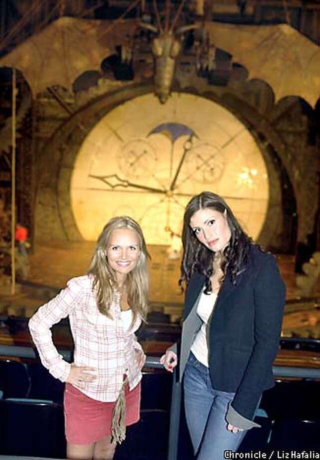 Kristin Chenoweth as Glinda, left, and Idina Menzel as Elphaba. Chronicle photo by Liz Hafalia