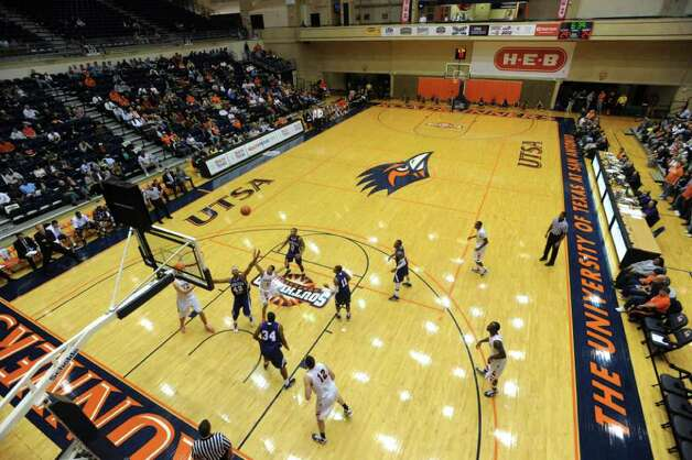 Michael Hale III of UTSA puts up a shot against Northwestern State during Southland Conference basketball action at the UTSA Convocation Center on Wednesday, Jan. 18, 2012. BILLY CALZADA / San Antonio Express-News 