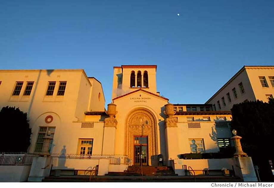 LAGUNA2-C-24JAN02-MT-MAC Laguna Honda Hospital, San Francisco. by Michael Macor/The Chronicle Ran on: 01-21-2005  Located in Forest Hill, Laguna Honda Hospital is the oldest nursing home in the state.  ALSO RAN: 03/28/2005 Photo: MICHAEL MACOR