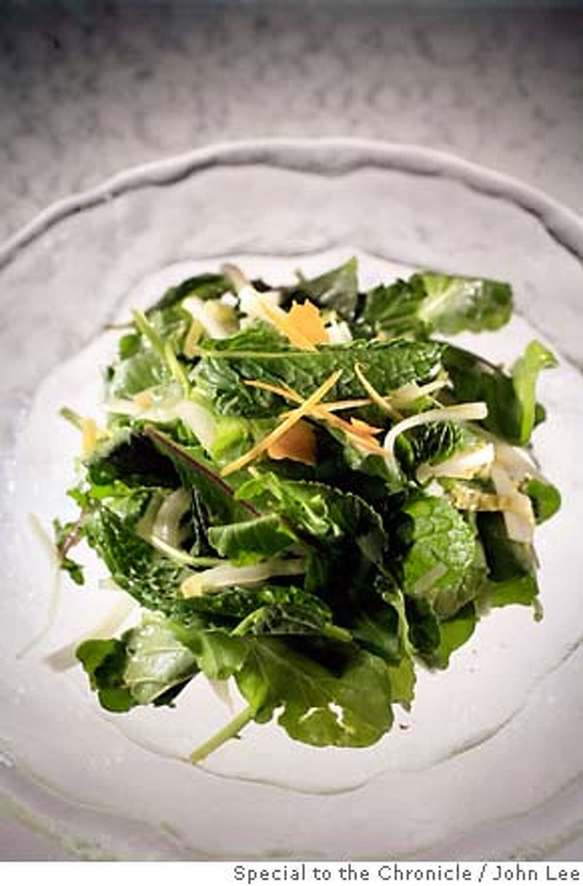 VALENTINE14_SALAD_JOHNLEE.JPG Endive, fennel and arugula salad with mint. By JOHN LEE/SPECIAL TO THE CHRONICLE