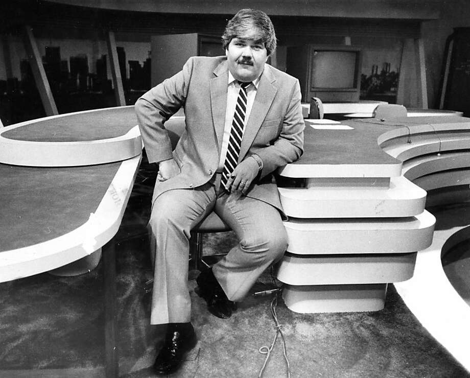"WAYNE SHANNON: On the set of KRON in 1982. I remember Shannon's ""Just 4 You"" commentary segments in the 1980s. Apparently other did, too. A lot of readers asked us to dig up a photo. Photo: Steve Ringman, The Chronicle"