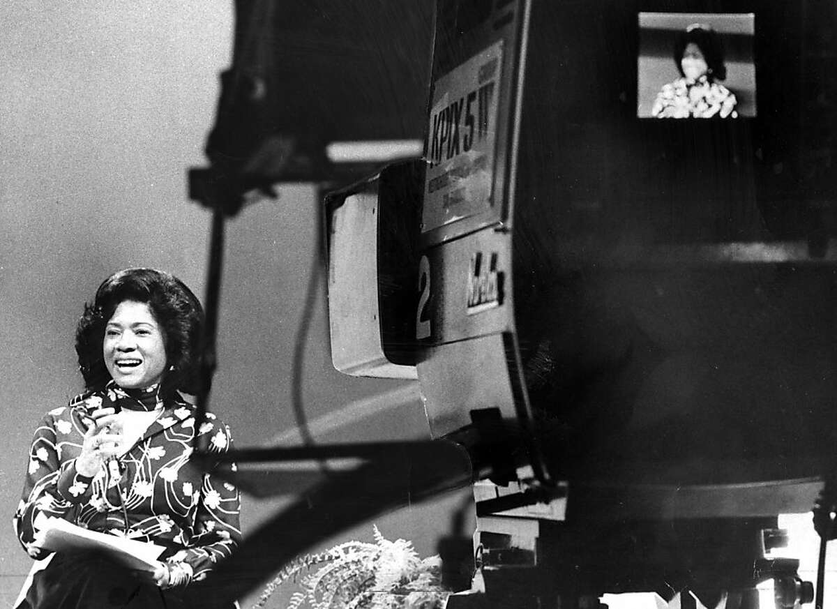BELVA DAVIS: Davis was featured in Part I, but I wanted to include this photo of the reporter working in 1977 at KPIX. It was taken by Joe Rosenthal, the Chronicle photographer behind the famous Raising of the Flag on Iwo Jima photo.
