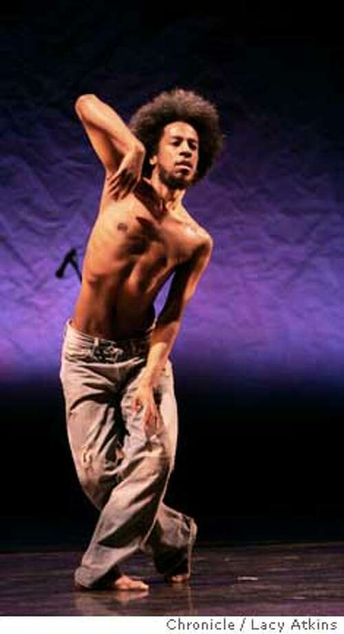 Choreographer Robert Henry Johnson rehearses his performance for the Festival, Thursday Feb. 8, 2006, in Oakland, Ca. The Black Choreographers Festival at the Malonga Casquelourd Theater, Feb. 9-11, in Oakland, Ca. (Lacy Atkins San Francisco Chronicle) 39926 Photo: Lacy Atkins