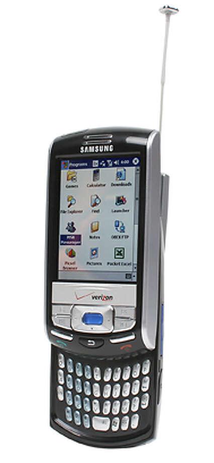 Pick up a slick slider phone, Samsung SCH-i730.