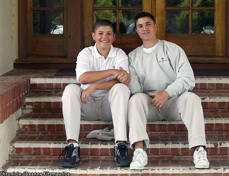 St. Francis golfers Joseph Bramlett, left, and Kevin Lozares. Chronicle photo by Deanne Fitzmaurice