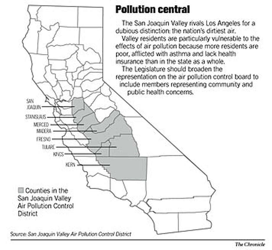 Pollution Central. Chronicle Graphic