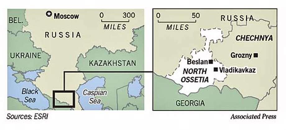 Beslan, Russia. Associated Press Graphic