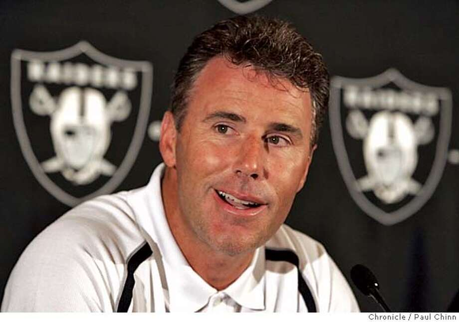 Oakland Raiders quarterback Rich Gannon announced his retirement during a news conference at Raiders training camp on 8/6/05 in Napa, Calif.  PAUL CHINN/The Chronicle Photo: PAUL CHINN