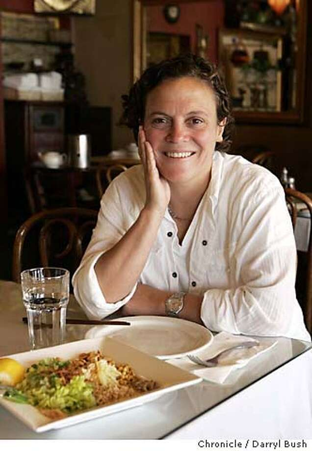 Chef Traci Des Jardins eats at Burma Super Star on Clement. On table is Ginger Salad.  Event on 7/26/05 in San Francisco.  Darryl Bush / The Chronicle MANDATORY CREDIT FOR PHOTOG AND SF CHRONICLE/ -MAGS OUT Photo: Darryl Bush