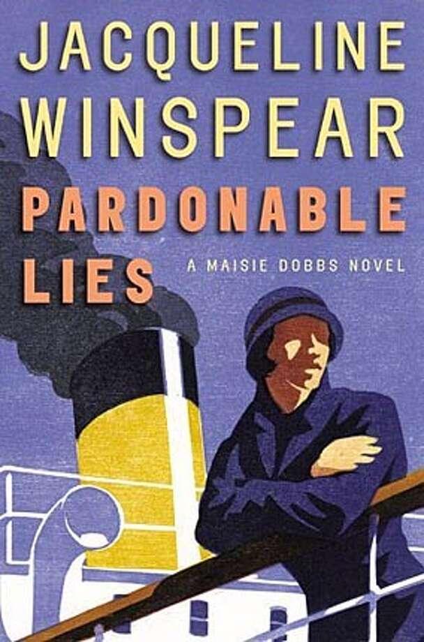 """Book cover art for """"Jacqueline Winspear, Pardonable Lies."""""""