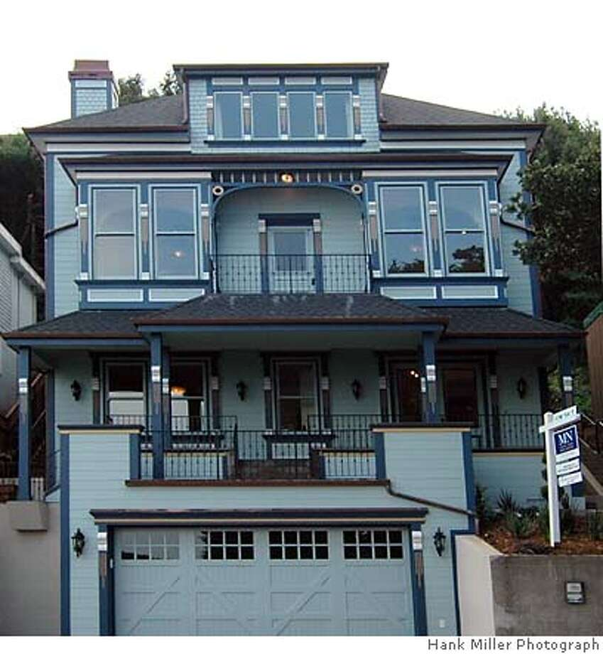 Front elevation of 121 South Street, a Sausalito Victorian that has been updated and put on the market for $2.795 million. Photo: Hank Miller Photography