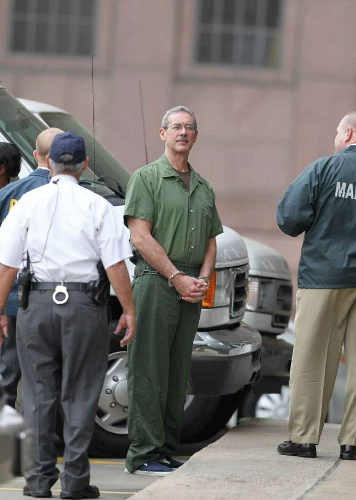 R. Allen Stanford arrives to ask a Senior U.S. District Judge to change his attorney Tuesday, April 6, 2010,behind the Bob Casey Federal Courthouse in Houston. ( Nick de la Torre / Chronicle )