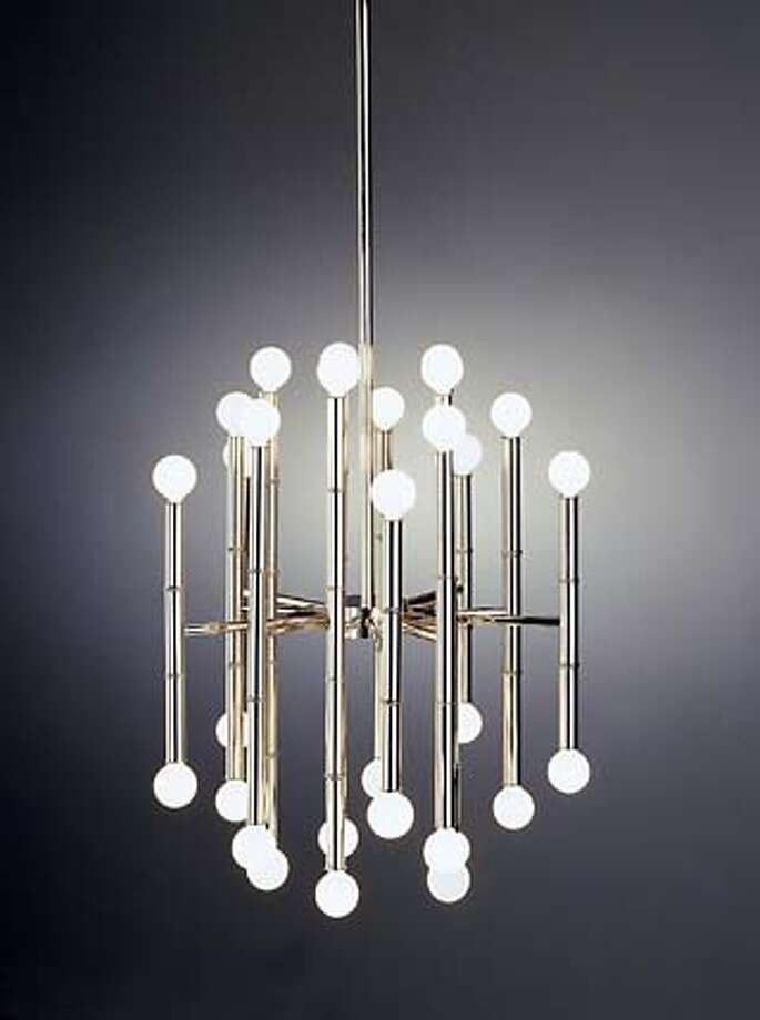 Jonathan Adler's Meurice Bamboo Chandelier has 30 lights and is cast in nickel, brass or bronze, $595. Photo: Handout