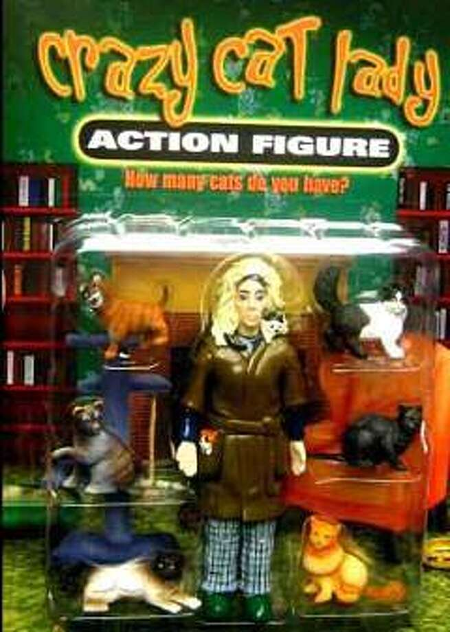 Crazy Cat Lady Action Figure Don't let this happen to you. Or your grandma.