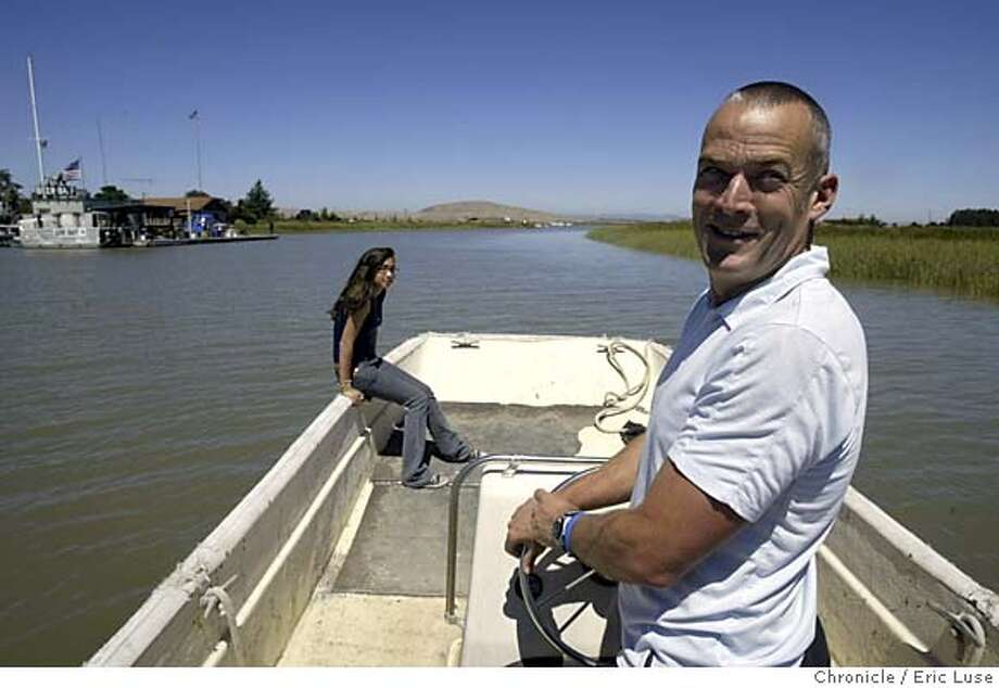 m&r_075_el.JPG  J.T. Wick and his daughter Grace,14, with Port Sonoma behind them.  The operators of a small, private marina at Port Sonoma scored bigtime in new federal transportation bill -- landing $20 million to develop a ferry service between the North Bay and San Francisco/Oakland. The funny part is, they hadn't even made the first cut of the Bay Area Water Transportation Authority, which is building a ferry serice around the Bay. They lobbied Congress on their own to get the money -- and got every last cent.  Event on 8/2/05 in Port Sonoma Eric Luse / The Chronicle MANDATORY CREDIT FOR PHOTOG AND SF CHRONICLE/ -MAGS OUT Photo: Eric Luse