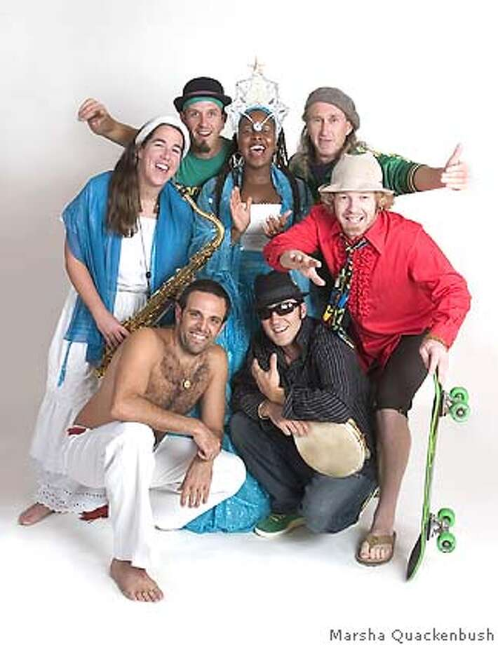 �SambaDa, clockwise from Left (starting with the saxaphonist) is Anne Stafford, Kevin Dorn, Dandha Da Hora, Gary Kehoe, Will Kahn, Marcel Menard and Papiba Godinho, headlines the Brazilian Carnaval Ball, which is in its 40th year. Credit: Marsha Quackenbush