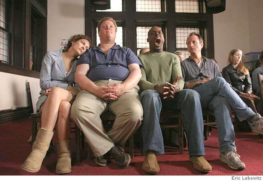 GOODMAN04 STARVED: L-R - Laura Benanti as Billie, Del Pentecost as Dan, Streling K. Brown as Adam, Eric Schaeffer as Sam. CR: Eric Lebowitz