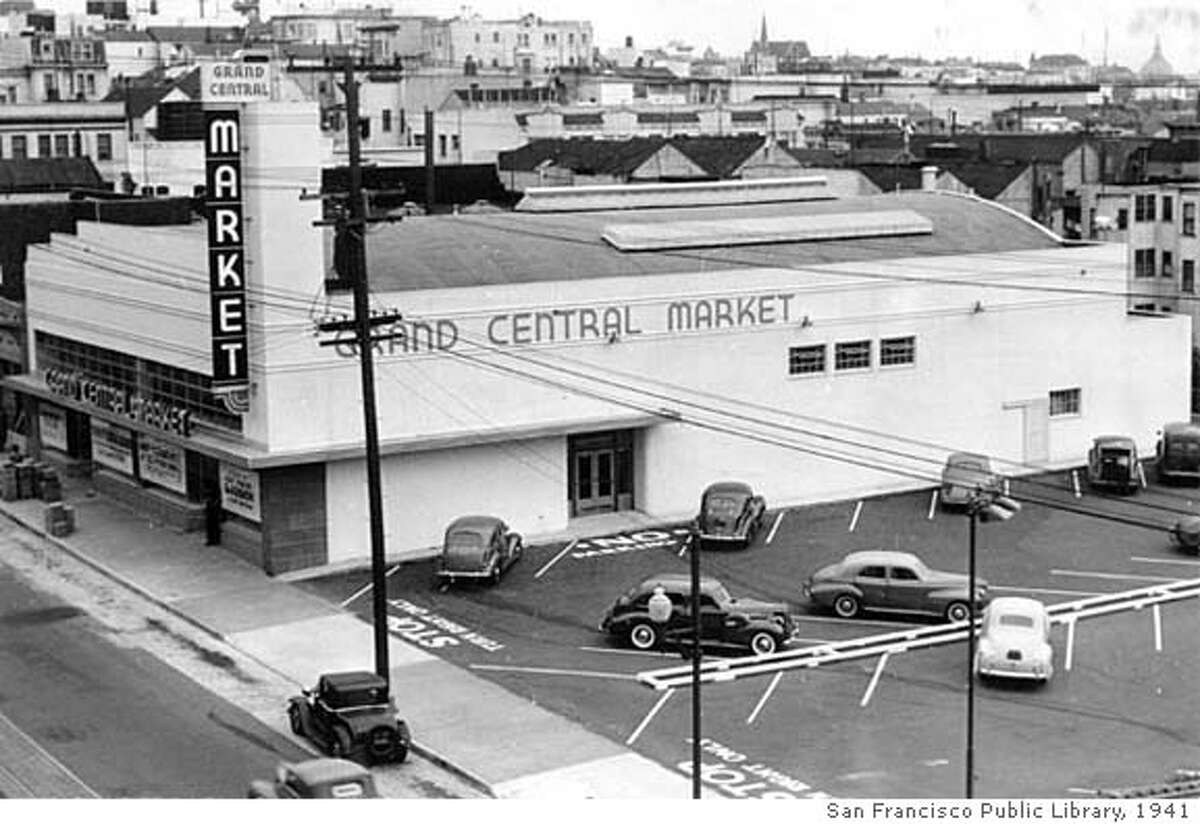Grand Central Market in 941. - Photographs of some early supermarkets in SF, however, they are copyrighted by the San Francisco Public Library and you have to get clearance from them in order to run them.