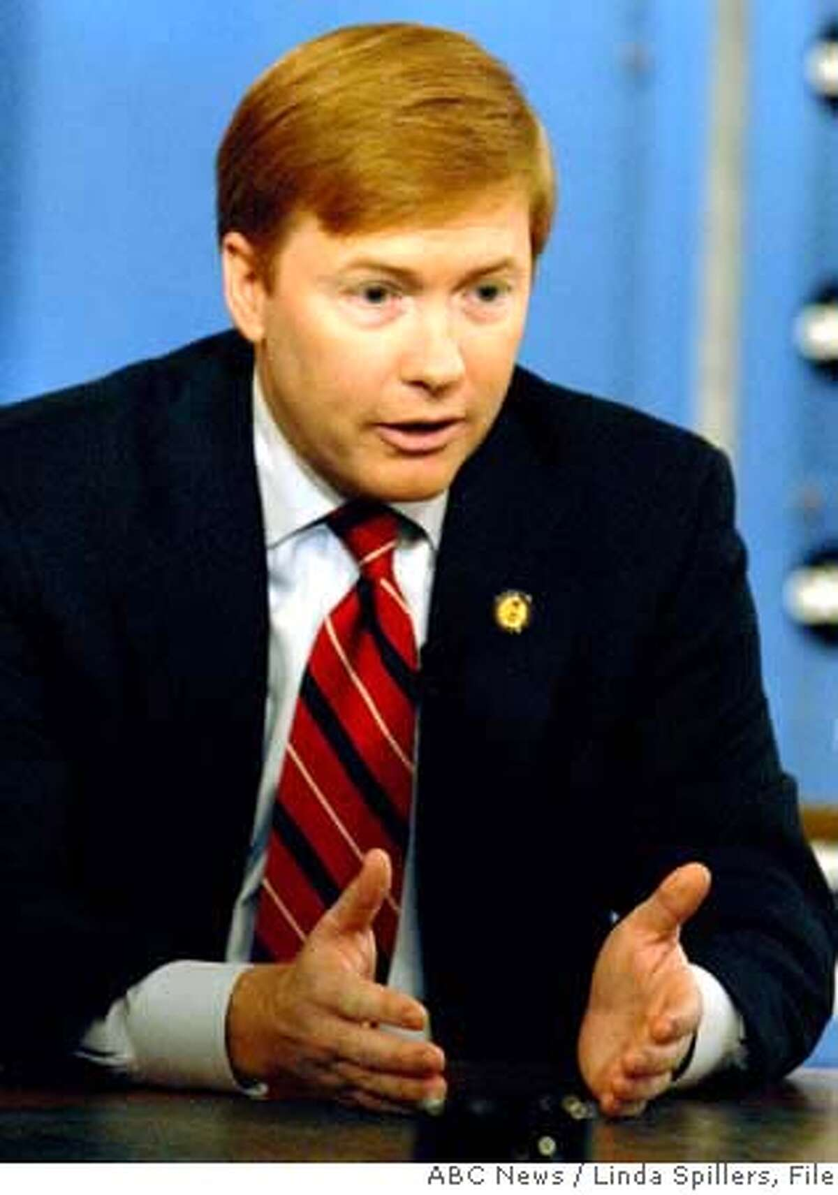 In this photo provided by ABC News, Rep.Adam Putnam, R-Fla., appears for an interview with George Stephanopolous on ABC's This Week, in Washington, Sunday, Oct. 8, 2006. (AP Photo/ABC News, Linda Spillers) **MANDATORY CREDIT LINDA SPILLERS ABC NEWS NO ARCHIVE** PHOTO PROVIDED BY ABC NEWS. MANDATORY CREDIT LINDA SPILLERS ABC NEWS NO ARCHIVE