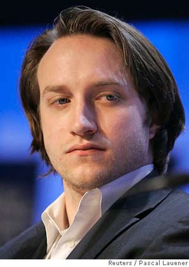 Chad Hurley, co-founder and CEO of YouTube, attends the session 'The Impact of Web 2.0 and Emerging Social Network Models' at the World Economic Forum (WEF) in Davos January 27, 2007. Top politicians, monetary policymakers, senior business executives and non-governmental organizations (NGOs) hold their annual meeting, the WEF, in the Alpine resort of Davos, Switzerland, until Sunday. REUTERS/Pascal Lauener (SWITZERLAND) 0 Photo: PASCAL LAUENER