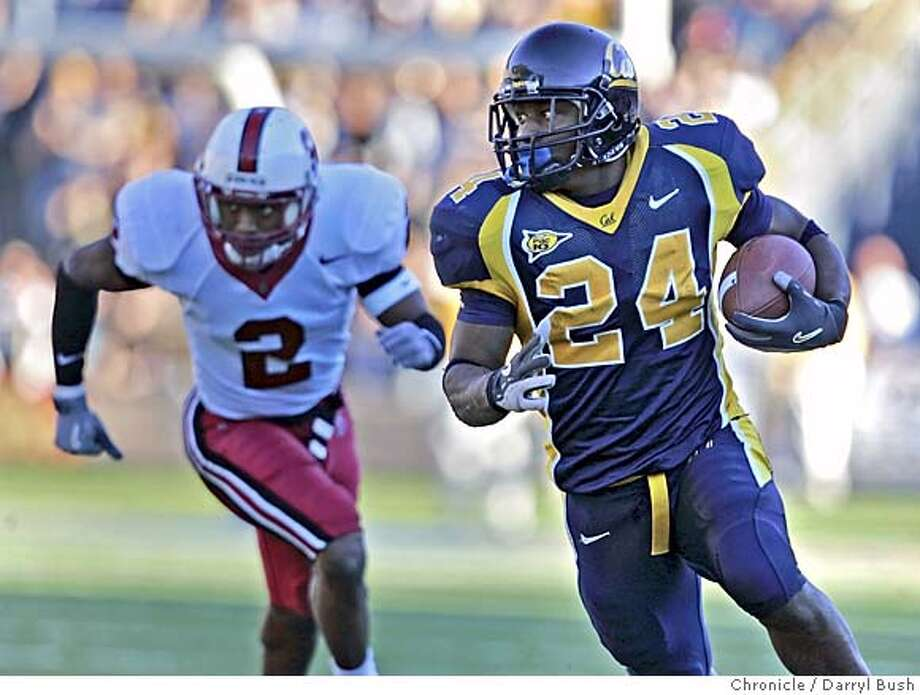 biggame_002_db.jpg  California Golden Bears Marshawn Lynch runs for a touchdown in the 3rd qtr. as Stanford Cardinals Stanley Wilson (2) pursues in football Big Game at Memorial Stadium. 11/20/04 in Berkeley  Darryl Bush / The Chronicle Ran on: 11-21-2004  Cal quarterback Aaron Rodgers got a ride off the field, along with a souvenir rose, as fans swarmed the field after Cal's convincing victory in the 107th Big Game. Ran on: 11-21-2004  Cal quarterback Aaron Rodgers gets a ride off the field, along with a souvenir rose, as fans swarmed the field after Cal's convincing victory in the 107th Big Game. Ran on: 11-21-2004  Cal quarterback Aaron Rodgers gets a ride off the field, along with a souvenir rose, as fans swarmed the field after Cal's convincing victory in the 107th Big Game. MANDATORY CREDIT FOR PHOTOG AND SF CHRONICLE/ -MAGS OUT Photo: Darryl Bush