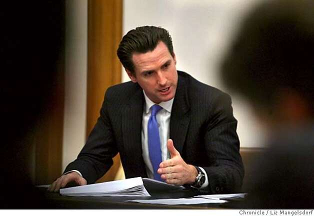 Mayor Gavin Newsom attends a SF Stat meeting at San Francisco City Hall on Feb. 5, 2007, after releasing a press release saying he had stopped drinking.  Photo by Liz Mangelsdorf/ San Francisco Chronicle Photo: Liz Mangelsdorf