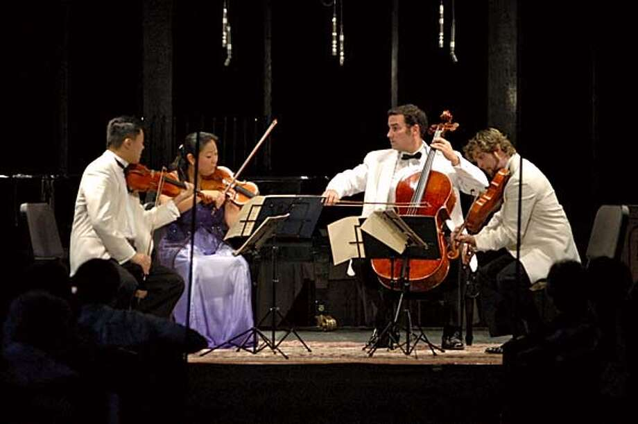 The Mir� Quartet (from left, Daniel Ching, Sandy Yamamoto, Joshua Gindele, John Largess)