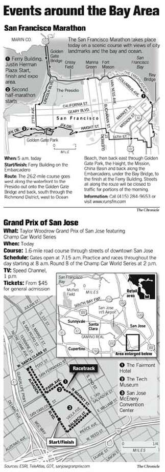 Events around the Bay Area. Chronicle Graphic