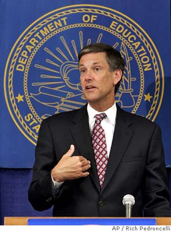 State schools chief Jack O'Connell says he is pleased that the state Supreme Court reinstated the state high school exit exam as a graduation requirement for this year's senior class, during a news conference in Sacramento, Calif., Wednesday, May 24, 2006. The California Supreme Court stayed a lower court's ruling and ordered a state appeals court to hear the case. (AP Photo/Rich Pedroncelli)  Ran on: 05-25-2006  Jack O'Connell, the state schools chief, says the ruling is a victory for public education and students in California.  Ran on: 05-25-2006  Jack O'Connell, the state schools chief, says the ruling is a victory for public education and students in California.  Ran on: 07-25-2006  David Kakishiba Photo: RICH PEDRONCELLI