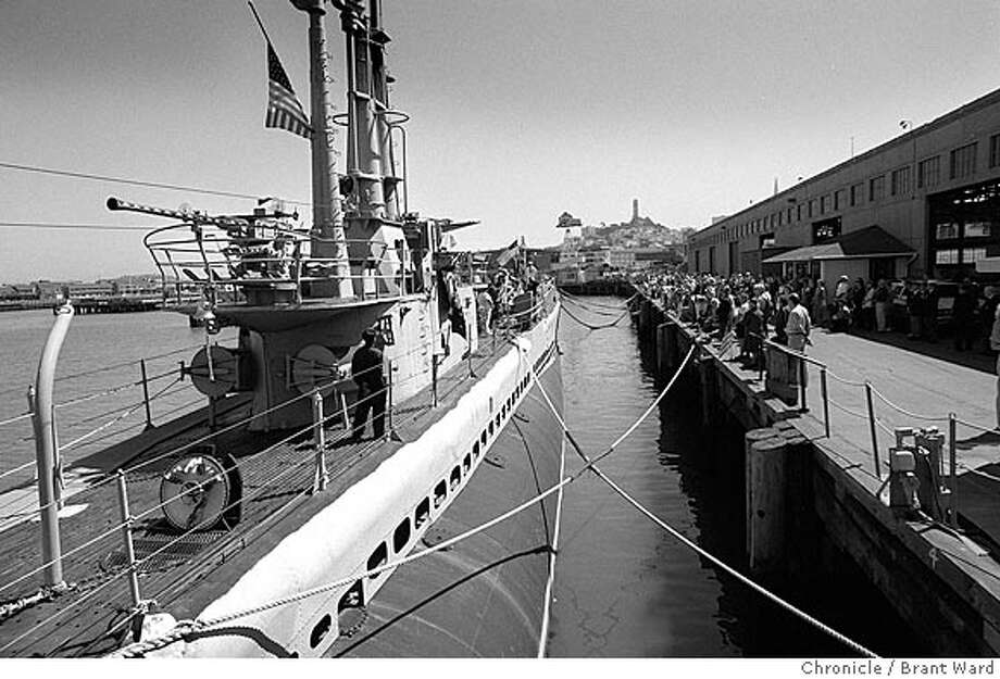 A GOLDEN ANNIVERSARY SERVICE OF SOLEMN REMEMBRANCE WAS HELD AT PIER 45 IN SAN FRANCISCO YESTERDAY ABOARD THE SUBMARINE PAMPANITO. THE WORLD WAR II SUBMARINE WAS PART OF A WOLF PACK THAT 50 YEARS AGO. PHOTOS BY BRANT WARD/CHRON 09/15/94  ALSO RAN 9/25/2003