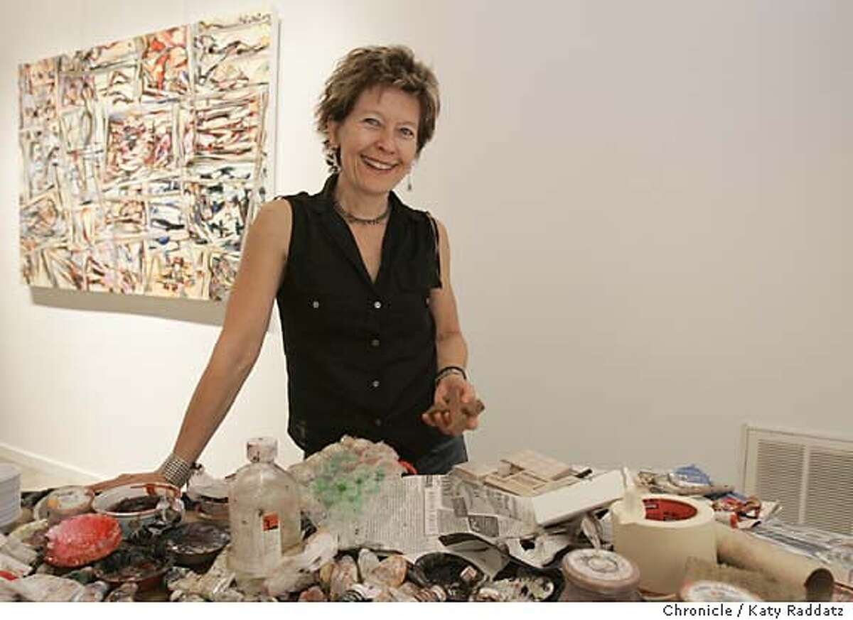 Story about Americans who live in Paris for months of the year. SHOWN: NAOMIE (CQ) KREMER, in her painting studio in Oakland. Photo taken on 7/17/05, in Oakland, CA. By Katy Raddatz / The San Francisco Chronicle