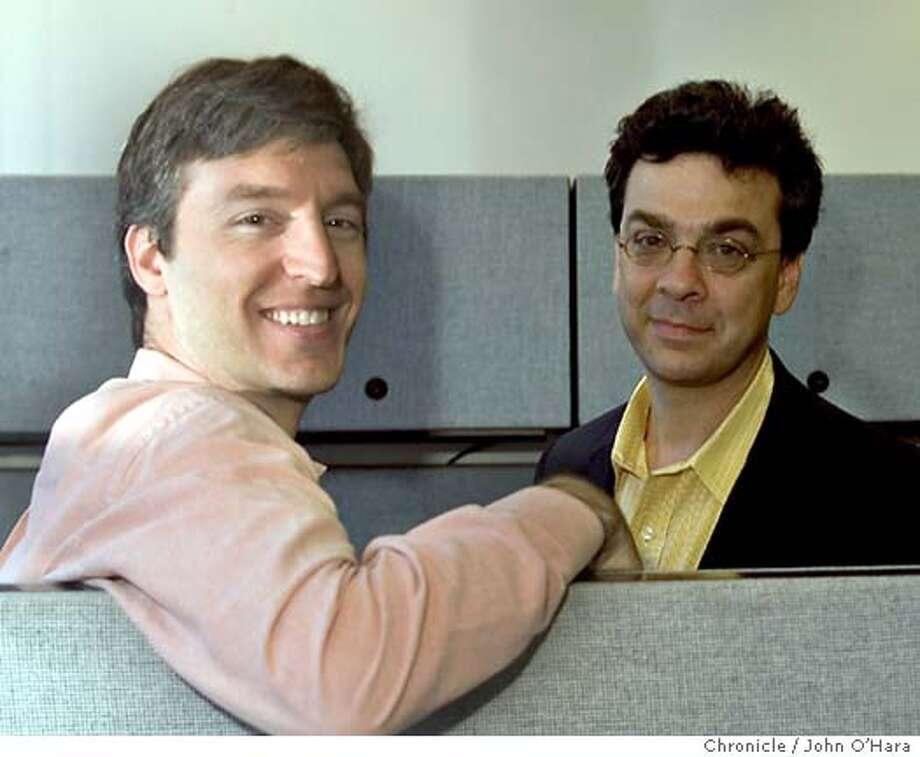 S F CHRONICLE  Steven Levitt ( shirt) and Stephen Dubner ( coat), authors of Freakonomics  Photo/ John O'Hara