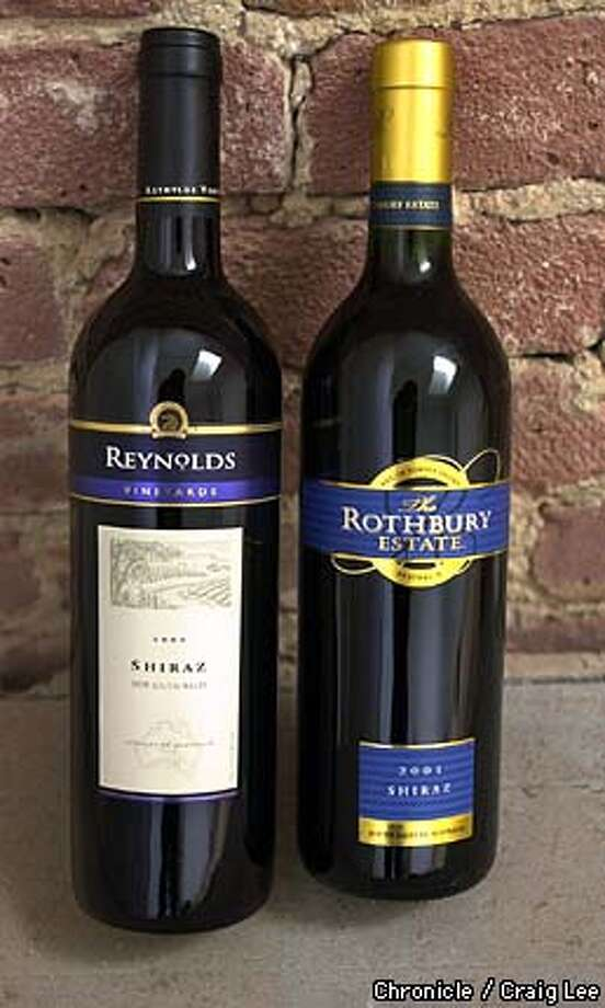 Two Australian Shirazes with the brand names of Reynolds and Rothbury Estate. For the Bargain Wines column in the Wine section.  Photo by Craig Lee/San Francisco Chronicle Photo: CRAIG LEE