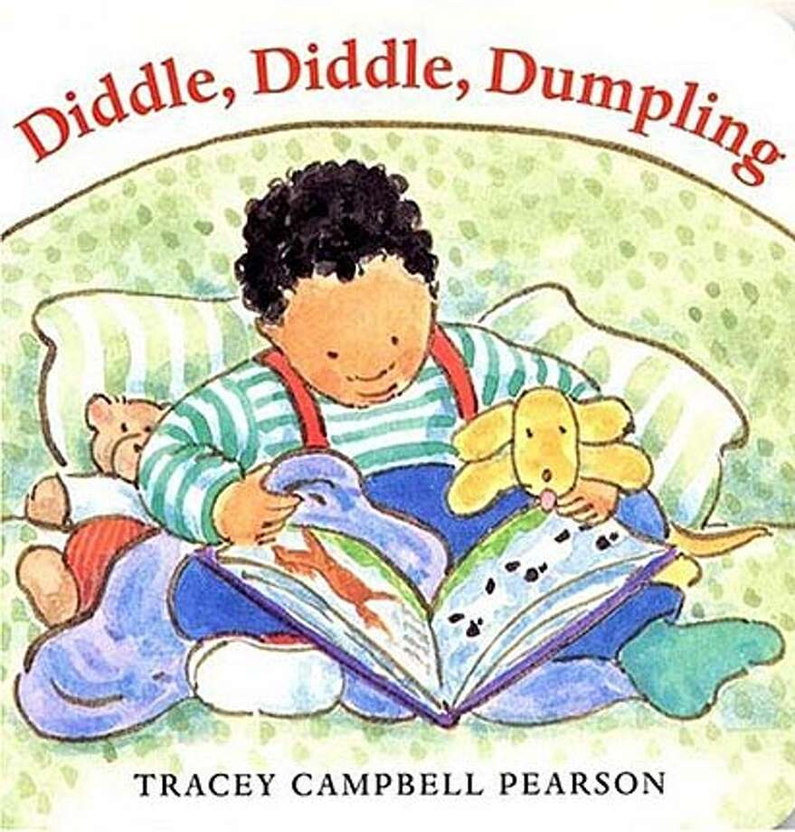 "Book cover art for, ""Diddle, Diddle, Dumpling"" by Tracey Campbell Pearson. BookReview#BookReview#Chronicle#07-31-2005#ALL#2star#e6#0423126246"