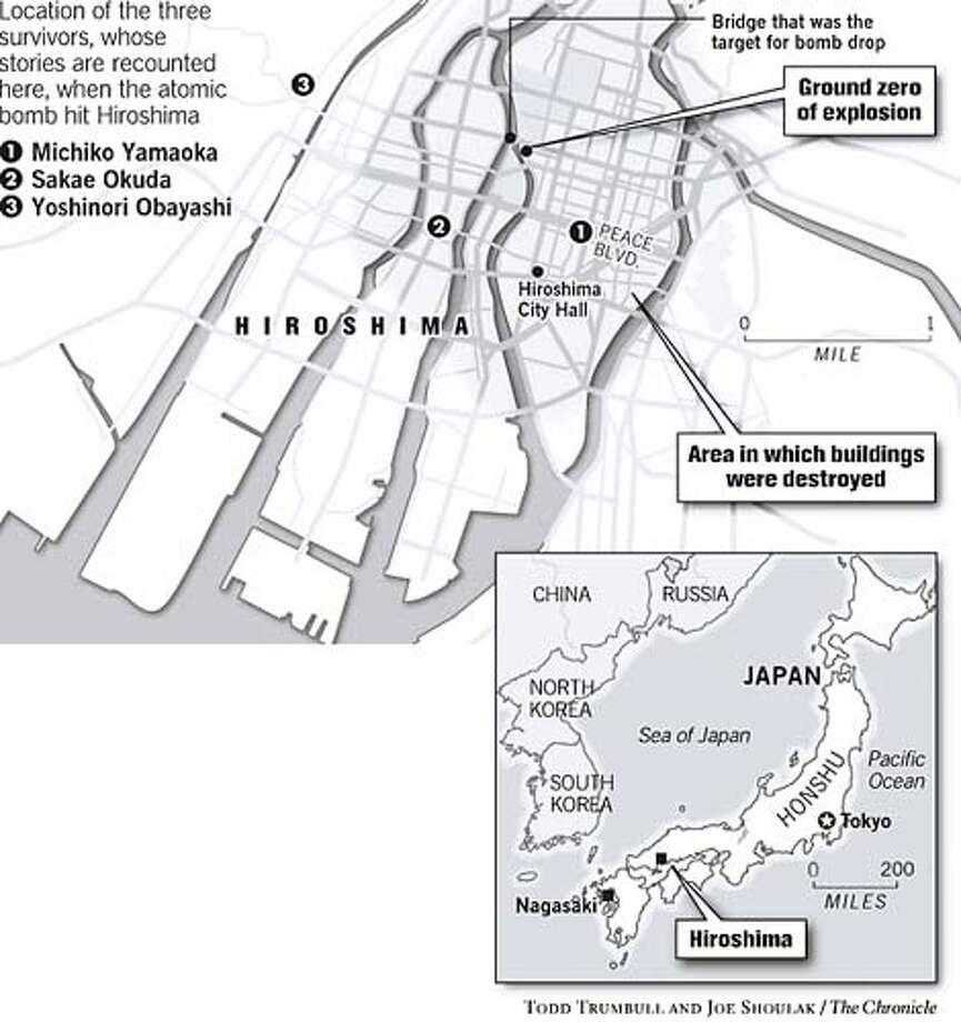 Hiroshima. Chronicle graphic Todd Trumbull and Joe Shoulak